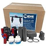 well2wellness® Midas Pool Bypass Set für Wärmepumpen, Poolheizungen und Solarheizungen