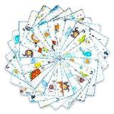 Baby Musselin Waschlappen aus Baumwolle 24 Stück, Kinderservietten, Baby Handtücher Set für Neugeborene, Weiche Baby Gesichtstücher und Badetuch, Weich und atmungsaktiv