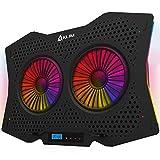 KLIM Halo + Laptop Kühler mit RGB Beleuchtung + 11' - 17' + Gaming Laptop Lüfter Pad für den Schreibtisch + USB Notebook Kühler + sehr stabil und leise + Kompatibel mit Mac und PS4 - NEU 2020
