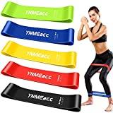 YNMEacc Fitnessbänder [5er Set] Widerstandsbänder, Theraband Trainingsband Gymnastikband aus Naturlatex mit Übungsanleitung und Tragebeutel für Muskelaufbau, Yoga, Heimfitness, Stretching, Gymnastik