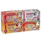Teekanne Früchtetee 'Sweeteas' 4er Set - Strawberry Cheesecake, Blueberry Muffin, Caramel Apple Pie, Peach Panna Cotta (4x 40,5g) von Teekanne