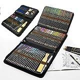 Buntstifte Set für Erwachsene und Kinder, 96 Stück Zeichnen Bleistifte Profi Art Set mit Künstler farbstifte Aquarell buntstifte Graphitstifte, ideal für kreatives Malen und Aquarellmalerei
