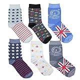 TupTam Kinder Socken Bunt Gemustert 6er Pack für Mädchen und Jungen, Farbe: Junge 6, Socken Größe: 35-38