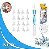 SunAurora Ohrreiniger,Spirale Silikon Ohrenreiniger,Ohr Schmalz Reiniger Mit 16 Waschbaren Ersatzköpfen,Sicherer und Weicher für Kinder und Erwachsene
