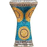 Die Myriad Suns Darbuka von Gawharet El Fan (World Percussion) – Arabische Darbouka-Trommel/Doumbek/Darabuka/Durbaka/Darbka mit weißem Kopf/Fell von Malik