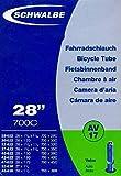SCHWALBE Fahrradschlauch AV17 mit Autoventil ~ 27'/28' ~ 28/47-622/635 mm (28 x 1 1/4 - 1,75 Zoll)