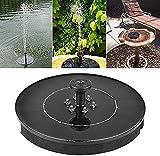 NIHAOA Outdoor-Brunnen Solarspeicher Springbrunnenpumpe Schwimmpumpe im Freien Mikro Gärten Brunnen mit LED (Größe: Farbige Lichter-LED) (Size : Colored Lights-LED)