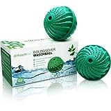 2x Waschklar® Öko Waschball [MIT AUSTRITTSCHUTZ] Saubere Wäsche OHNE Waschmittel - Waschkugel für Waschmaschine, Nachhaltige Produkte, Bio Wäscheball für Allergiker