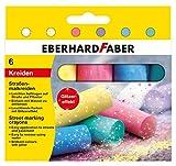Eberhard Faber 526504 - Straßenmalkreide Glitzer 6er Etui