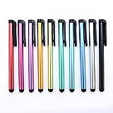 Yizhet 10x universal Stylus Stift Touch Pen Eingabestift mit Clip Design für iPhone iPad Samsung Galaxy und alle Smartphone Handy Tablet mit kapazitiven Touchscreen (10 Stücke)
