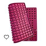 Collory Silikon Backform Mini Herz für Hundekekse & Hundeleckerlis zum selber backen, Backmatte für Pralinenform und Schokoladenform, Antihaftend und Lebensmittelecht (BPA-Frei)