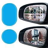 JOLVVN 4 Pcs Auto Rückspiegel Wasserdicht Schutzfolie transparent Folie Regendicht Blendschutz Anti-Fleck