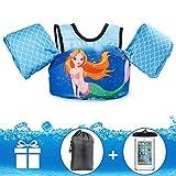 JEVDES Schwimmflügel Puddle Jumper, für Kinder und Kleinkinder von 2-7 Jahre, 15-25kg, Schwimmhilfe mit verschiedenen Designs für Jungen und Mädchen (Meerjungfrau)