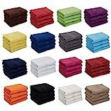 AR Line 4er Pack zum Sparpreis, Frottier Handtuch-Serie - in 7 Größen und 16 Farben 100% Baumwolle 500 g/m², 4er Pack Handtücher (50x100 cm) in Anthrazit-Grau