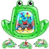 VATOS Baby Wassermatte, Baby spielzeug 3 6 9 Monate junges Mädchen, aufblasbare Wasserspielmatte ist perfektes sensorisches Spielzeuggeschenk Das Stimulationswachstum Ihres Neugeborenen