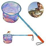 PLUSINNO Angel kescher für Kinder, Teleskop-Angelkescher, Unterfangkescher Angelkescher, Schmetterlingsnetze Insektennetz für Kinder