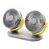 BEECM USB tragbares Auto Dual Head Lüfter Lautloser Lüfter Desktop Schlafsaal Büro kann verwendet werden