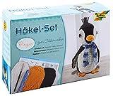 folia 23929 - Häkelset Pinguin, Komplettset zur Erstellung von einem selbst gehäkelten niedlichen Pinguin, ca. 23 cm groß, für Kinder ab 8 Jahren und Erwachsene, als Geschenk