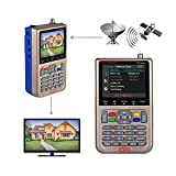 GT MEDIA V8 Satelliten Finder Meter Sat Finder Satellitenerkennung DVB-S2X Signalempfänger Decoder HD 1080P FTA 3,5 'LCD Eingebauter 3000mAh Zur präzisen Einstellung der Satellitenschüssel