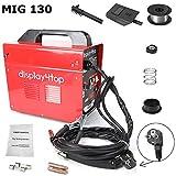 Display4top Ampere Schweißgerät Schweißmaschine FLUX Schutzgas MIG Elektrodenschweißgerät Fülldraht (Rot) (MIG 130)