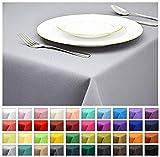 Rollmayer Tischdecke Tischtuch Tischläufer Tischwäsche Gastronomie Kollektion Vivid (Silbergrau 31, 100x100cm) Uni einfarbig pflegeleicht waschbar 40 Farben
