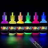 [6 x 28ml] iLC UV-Licht Bodypainting Schminke Schwarzlicht Körperfarbe für Body und Facepainting Fluoreszierende knalligen Neon Farben Körpermalfarben