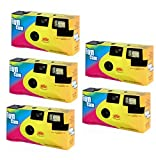 Partykamera Let`s Have Fun - 5er Pack Einwegkamera mit Blitz (je 27 Aufnahmen 400 ASA)