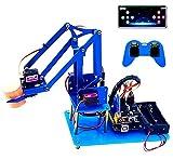 KEYESTUDIO 4DOF Aluminium Roboterarm-Kit Kompatibel mit Arduino IDE, STEAM Robot Arm Kit DIY Roboter Bausatz mit Verarbeiten von Code und PDF-Tutorial über