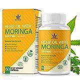 Moringa Pulver Kapseln mit natürlichem Öl, reich an Nährstoffen und Antioxidantien, 30000 mg 60 Kapseln, 100% vegan