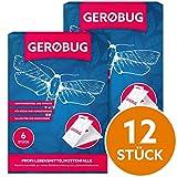 Gerobug Lebensmittel-Mottenfalle 12 Stück + E-Book zur endgültigen Mottenbekämpfung + Support vom Experten
