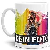 Tasse selbst individuell gestalten/Personalisierbar mit eigenem Foto Bedrucken/Fototasse/Motivtasse/Werbetasse/Firmentasse mit Logo/Weiss - Glanz