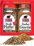 Block House Grill Set Gewürzset Geschenk - Steak Pfeffer & Zaubergewürz
