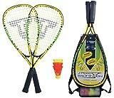 Talbot-Torro Speed-Badminton Set Speed 4000, 2 handliche Alu-Rackets 54,5cm, 3 windstabile Federbälle, im 3/4 Bag, 490104