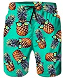 ALISISTER Ananas Badehose Herren Jungen Druck Schwimmen Surf Shorts Hawaii Sporthose Beachshorts Swim Trunks mit Seitentaschen für Herren XXL