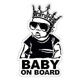 Baby on Board Aufkleber 18x11cm Auto Sticker -Finest Folia Autoaufkleber UV- Wetterfest Wasserfest Hangover (Junge, Baby on Board Krone)