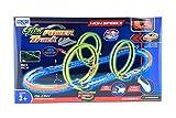 RB&G Track Set High Speed Rennbahn Autorennbahn mit Leuchtspur Looping Inkl. Fahrzeug mit Controller