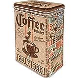 Nostalgic-Art Retro Kaffeedose - Coffee & Chocolate - Coffee Sack, Blech-Dose mit Aromadeckel, Vintage Geschenk-Idee für Kaffee-Liebhaber, 1,3 l