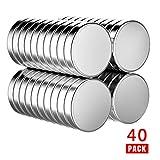 Neodym Magnete, 10 x 3 mm Kühlschrankmagnete Starke runde Magnete Whiteboard-Magnete Für Pinnwand, Anschlagtafel, Kühlschrank, Bildmagnet 40 Stück Mit Box