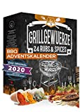 Barbeque Adventskalender 2020 I BBQ Adventskalender für Grillfans I 24 edle Gewürzspezialitäten I Geschenkset