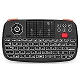 Rii i4 Mini Tastatur Bluetooth, Kabellos Tastatur mit Touchpad Maus(Bluetooth 4.0 + 2.4G Wireless), Wireless Tastatur with Scrollrad und LED Hinterleuchtet(Deutsches Layout, schwarz)