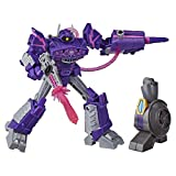 Transformers Spielzeuge Cyberverse Deluxe-Klasse Shockwave Action-Figur, Shock Blast Action Attacke und Build-A-Figure Element, Für Kinder ab 6 Jahren, 12,5 cm