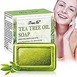 Teebaumöl Seife, Akne Seife, Handgemachte Seife, Gesichtsseife, Natürliche Seife Reinige Gesicht und Körper Gegen Akne Anti Mitesser/Anti Pickel und Porenreinige