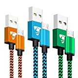 Micro USB Kabel, Aione 3Pack 2M Lang Micro USB Ladekabel Schnellladekabel Android Handy Ladekabel für Samsung Galaxy S7 S6 Edge S5 J3 J4 Plus J5 J6 J7 Note 5 Tablet, Sony, Nokia, Huawei, Nexus, PS4