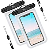 YOSH wasserdichte Handyhülle Tasche Beutel (2 Stück) bis zu 6.7 Zoll Handytasche wasserdicht Handy Wasserschutzhülle Schwimmen, Baden für Samsung S9/S8/S7/S6, iPhone 11/Pro/X 8/7/6s Plus Huawei etc.