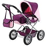Bayer Design 1505700 Kombi Puppenwagen Grande, zusammenklappbar, Pflaume