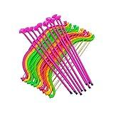 STOBOK 24 stücke Kinder Kunststoff Pfeil und Bogen Set Saugnapf Bogenschießen Sport Party Favors (Zufällige Farbe)