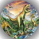 Fondant Tortenaufleger Tortenbild Dinosaurier N1