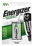 Energizer Wiederaufladbare Batterien 9V, Recharge Power Plus, 1 Stück