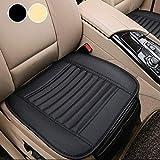 Big Ant Sitzbezüge Auto Sitzauflage Sitzkissen Auto Abdeckung für Vordersitz mit PU Leder x 2 Stück,Schwarz