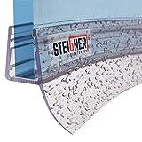 STEIGNER Duschdichtung, 50cm, Glasstärke 6/7/ 8 mm, Vorgebogene PVC Ersatzdichtung für Runddusche, UK12